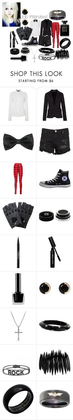"""Job Interview Outfit"" by lauren-mossgotheridge ❤ liked on Polyvore featuring Oui, Hallhuber, Zoe Karssen, Boohoo, Converse, Profound Aesthetic, Givenchy, Trish McEvoy, Bobbi Brown Cosmetics and River Island"