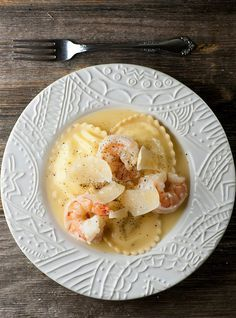 Shrimp Scampi Ravioli. The better your ravioli, the better this dish will be, so go for the good stuff. I used 21-25 U (count) shrimp & fresh ravioli's. The tasty sauce alone is worth this recipe.