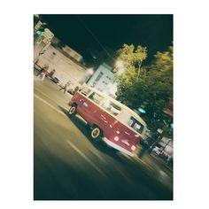 Il pensait pouvoir m'échapper.. Amateur.  #Vw #Addicted #Volkswagen #Combi #Van #Bus #Transporter #T1 #Beautiful #Red #German #Car #Old #Timer #Vintage #Love #hippie #Woodstock #Travel #Legend #Camping #Picture #Dream #Addict #Lisbon #City #Night #Fuzzy #Street #Trees