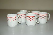 Vintage Tognana Italy Espresso cups - Set of 6 - excellent cond.