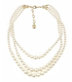 Classic 3 Strand Pearl Necklace