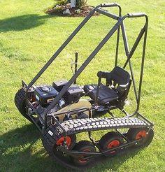 Magic Carpet Go Kart, (Personal Tracked Vehicle) Build Plans Only Homemade Go Kart, Go Kart Plans, Go Kart Frame Plans, Homemade Tractor, Diy Go Kart, Build A Go Kart, Drift Trike, Buggy, Chenille