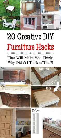 20 Creative DIY Furniture Hacks That Will Make You Think: Why Didn't I Think of That?!