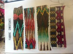 Fabric Swatches Great Color Story Very Tribal...