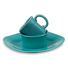 Fiesta® Turquoise 3-Piece Square Place Setting - Bed Bath & Beyond