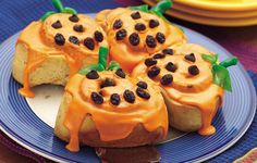 Make your little witches and ghosties excited about Halloween first thing in the morning with Jack O'Lantern Orange Rolls.