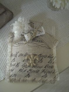 Love the stamping on linen