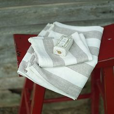 Grey Linen Philippe Hand Towel Sets or similar but with off white and tan