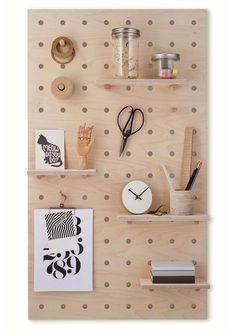 Peg-it-all Pegboard : Wall-mounted Storage Panel in birch plywood – Kreisdesign