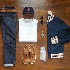 Partly cloudy, low 60s. Selvedge Denim x @copinsportswear  Henley x @jcrew  Jacket x @jcpenney  Sneakers x @greatsbrand  Cap x @ebbetsvintage  Socks x @uniqlousa  Watch x @seikowatchusa  Sunglasses x @rayban  #menswear #mensstyle #mensfashion #fashion #style #stylish #instastyle #instafashion #instadaily #daily #wiw #wiwt #whatiwore #whatiworetoday #outfit #todaysoutfit #ootd #outfitoftheday #look #lookbook #dailylook #denim #shoes #accessories #watch #streetstyle #gqstylehunt #dailypic…