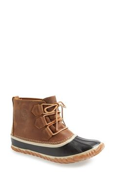 SOREL 'Out N About' Leather Boot (Women) available at #Nordstrom