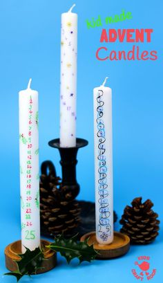 HOMEMADE ADVENT CANDLES are fun for kids and grown ups. A simple Christmas craft the whole family will enjoy day after day during the Christmas countdown. #advent #DIYadvent #Adventcalendar #candle #homemadecandle #christmas #christmascountdown #kidscrafts #kidscraftroom
