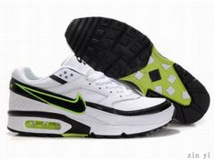 the best attitude 3c16e bca75 Mens Nike Air Max BW Classic Shoes White Green Black Air Max 90, Nike Shoes