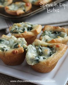 Spinach Dip Bites Recipe ~ perfect for any party!