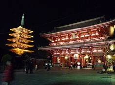 Night scenes at Sensou-ji, Tokyo Kyoto, Mont Fuji, Creative Architecture, Photos Voyages, Temple, Instagram, Night Scenes, Tokyo Japan, Fire