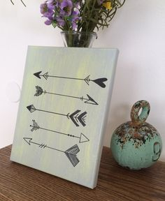 Arrow canvas painting follow your arrow by THERUSTICBEACHHOUSE
