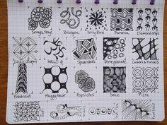 TANGLE PATTERNS PAGE 12 OF 19- #doodles #zendoodle # doodle-----Tekenpraktijk De Innerlijke Wereld: Tangle-patronen
