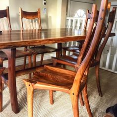 A picture l like of my recent Sam Maloof inspired dining set build #livingroom #