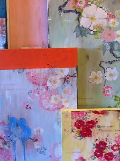 "In the studio: new work for June Show 2014, Museo Gallery. Kathe Fraga, www.kathefraga.com  ""The French Wallpaper series."