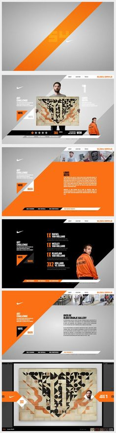 Cool Web Design on the Internet. Nike website. #webdesign #webdevelopment #website. If you like UX, design, or design thinking, check out theuxblog.com