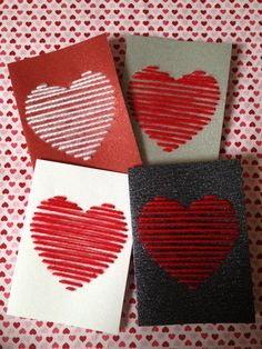 Valentinstag Ideen Valentinstag Karten Handwerk Thread Source by Valentines Day Decorations, Valentine Day Crafts, Happy Valentines Day, Holiday Crafts, Valentine Ideas, Saint Valentin Diy, Valentines Bricolage, Valentine's Day Diy, Homemade Cards
