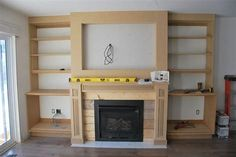 Image result for fireplace with built ins