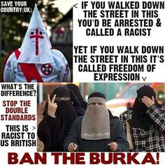 Why can ragheads parade around in masks, yet the KKK cant?