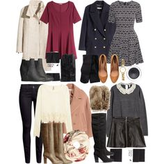 Lydia Inspired Winter H&M Outfits by veterization on Polyvore featuring H&M