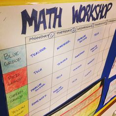Middle School Math Man: Making Math Workshop Work..a few different schedules for different period lengths/class sizes.