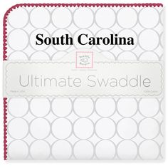 Ultimate Swaddle Blanket - University of South Carolina #MadeinAmerica #MadeinUSA #DesignedinSeattle #PremiumUSCotton #BabyShower #BabyGift #TeamSpirit