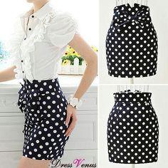 <3 This Pocka-Dot Skirt!