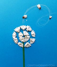 Bow-Tie Noodle Dandelions (Kids Craft) - Crafty Morning