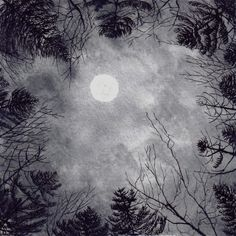 Hey, I found this really awesome Etsy listing at https://www.etsy.com/listing/94026634/moon-above-forest-print