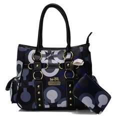 #Coach #Handbags Cheap Coach Stud In Signature Small Blue Totes BIV Is Hot Sale At Discount Price, More Orders Will Get More Discount Here.