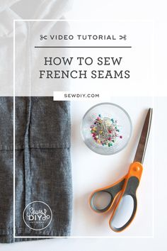 Learn to sew a French seam as efficiently and accurately as possible in this video tutorial. French Seam, Learn To Sew, Sewing, Pattern, Stitching
