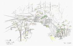 Kengo Kuma Designs Cultural Village for Portland Japanese Garden,Shuttle Drop-off Plaza. Image © Kengo Kuma & Associates