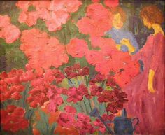 Emil Nolde, Women in a Flower Garden, 1916