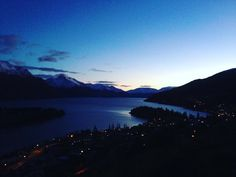 Sunset in Queenstown. Man it was a cold one last night.