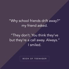 Book Of Teenager ( Besties Quotes, Best Friend Quotes, True Quotes, Teenage Love Quotes, Girly Quotes, School Days Quotes, Funny Quotes For Instagram, Best Friendship Quotes, Memories Quotes