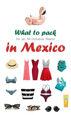 What To Pack For An All-Inclusive Resort In Mexico. It is not easy to figure out what to pack for an all inclusive resort in Mexico. Especially if you havent been to one before. Travel Tips Tips Travel Guide Hacks packing tour Packing List For Travel, New Travel, Family Travel, Packing Tips, Travel Tips, Vacation Destinations, Family Vacations, Budget Travel, Travel Ideas