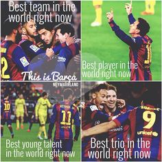 I LOVE this team 😘😘😘 a little bit sad that Neymar left Soccer Fans, Play Soccer, Football Soccer, Football Players, Neymar Barcelona, Barcelona Team, Messi And Neymar, Lionel Messi, Soccer Quotes