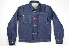 16 oz. Natural Indigo Pleated Jacket