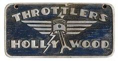 Throttlers - Hollywood - Car Club Plaque