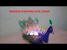 #5 Diy Peacock Floating Diya Stand||Floating Candle holder for Diwali||T...