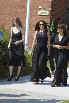 Crown Princess Mary in a new maxi skirt from By Malene Birger.