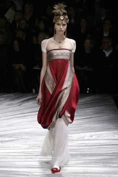 Inspiration for Volantis Fashion, possibly Dorne Alexander McQueen Fall 2008