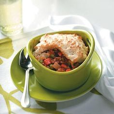 Biscuit-Topped Shepherd's Pies Recipe from Taste of Home -- shared by ...