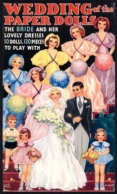 1989 Wedding of The Paper Dolls Paper Doll of 1935 Merrill Book 1601 | eBay