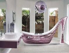 Shoe, bathtub, yes.