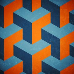 Seamless isometric graphic pattern
